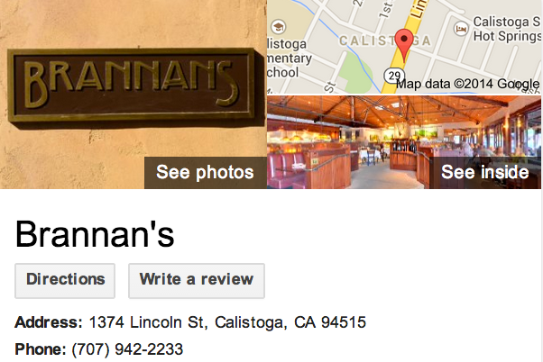 Google Business View for an American Restaurant.  Look Inside!