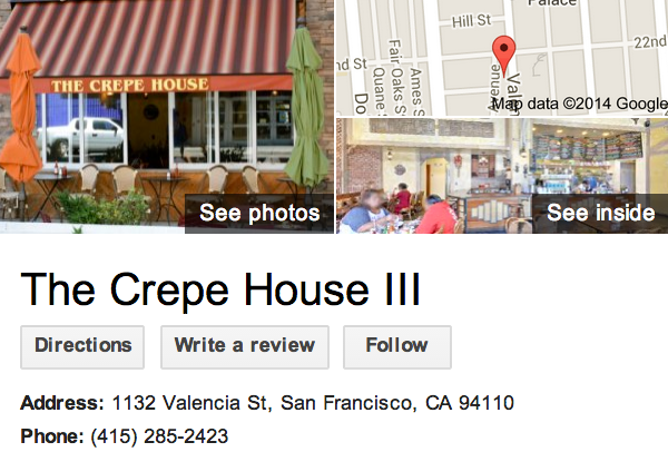 Google Business View for a Crêperie.  Look Inside!