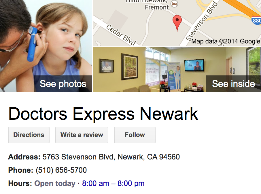 Google Business View for an Urgent Care Facility.  Look Inside!