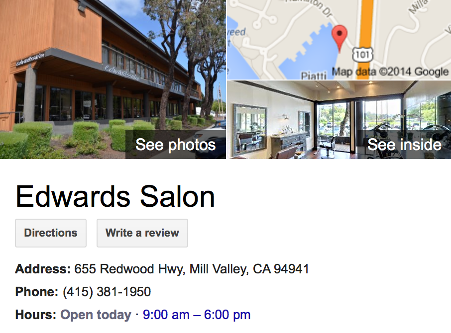 Google Business View for a Beauty Salon.  Look Inside!