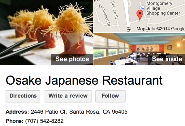 Google Business View for a Japanese Restaurant.  Look Inside!
