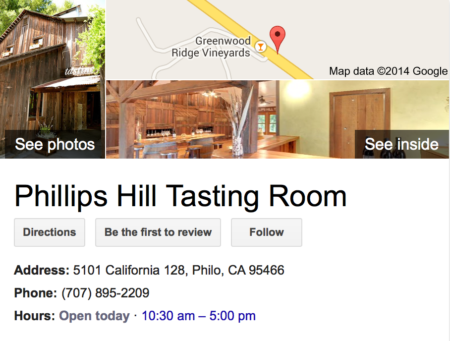 Google Business View for a Winery.  Look Inside!