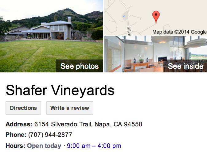 Google Business View for a Vineyard.  Look Inside!