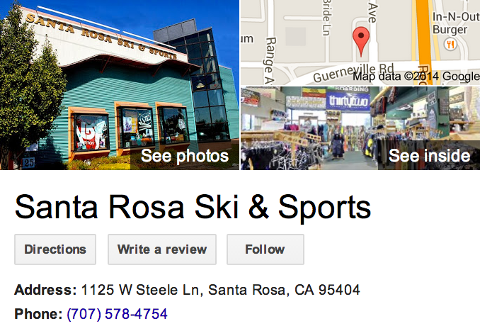 Google Business View for a Sports Shop.  Look Inside!