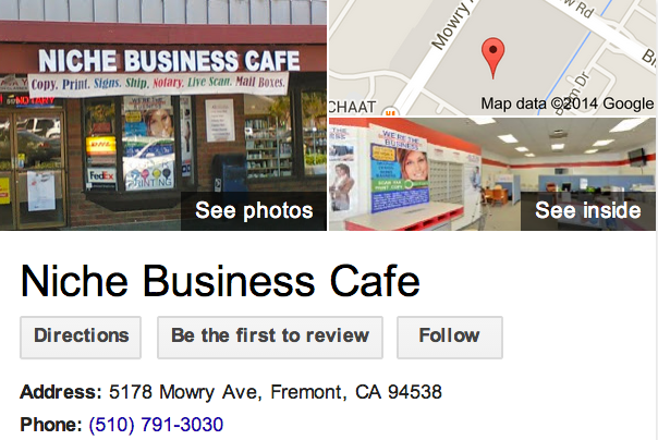 Google Business View for a Print Shop.  Look Inside!