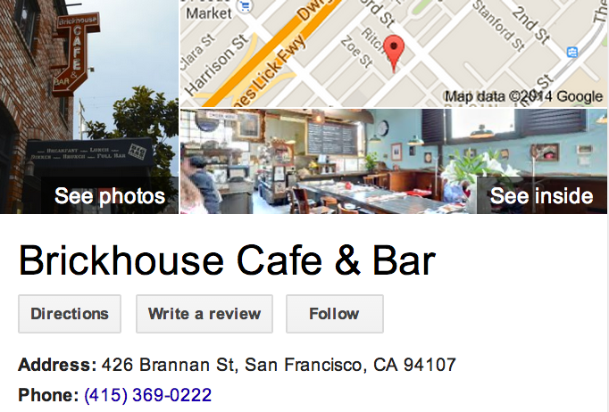 Google Business View for a Cafe.  Look Inside!