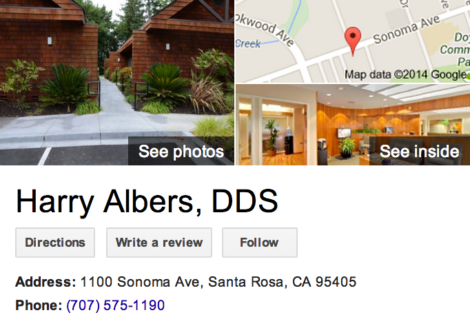 Google Business View for a Cosmetic Dentist.  Look Inside!