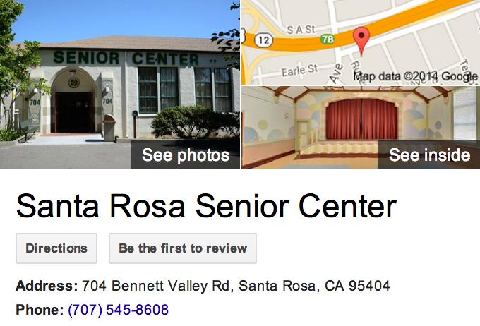 Google Business View for a Senior Citizen Center.  Look Inside!