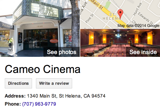 Google Trusted Agency Zenergy Works captured the best of Cameo Cinema in St. Helena with this Google 360 Tour