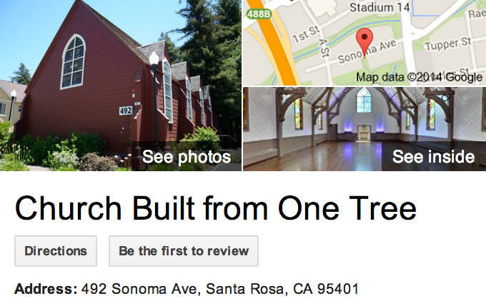 Google Business View for a Church.  Look Inside!