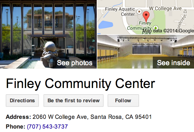 Google Business View for a Community Center.  Look Inside!