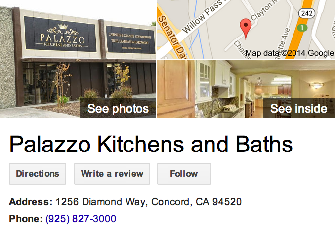 Google Trusted Agency Zenergy Works captured the best of Palazzo Kitchens and Baths in Concord with this Google 360 Tour