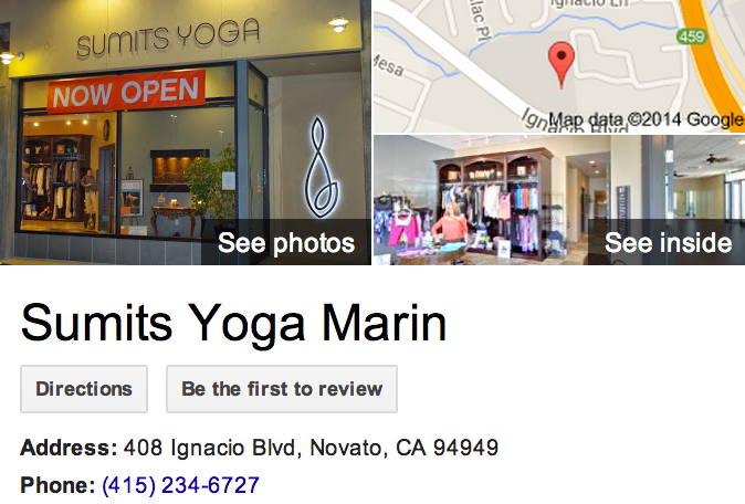 Google Business View for a Yoga Studio.  Look Inside!