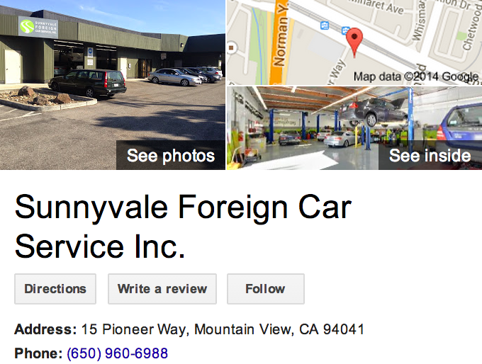 Google Business View for an Auto Repair Shop.  Look Inside!
