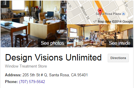 Google Business View for a Window Treatment Store. Look Inside!