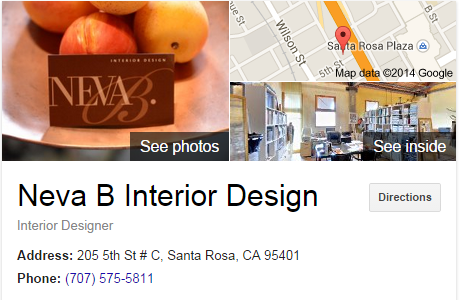 Google Business View for an Interior Designer.  Look Inside!