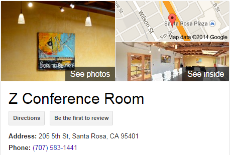 Google Business View for a Meeting Room.  Look Inside!