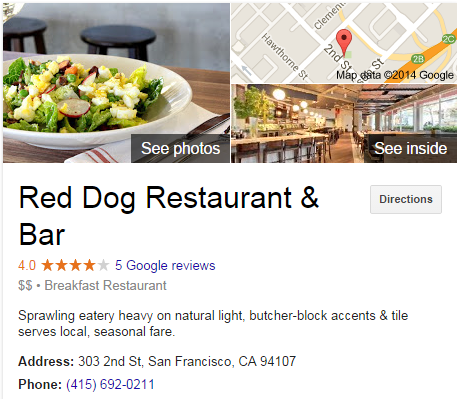 Google Business View for a Breakfast Restaurant. Look Inside!