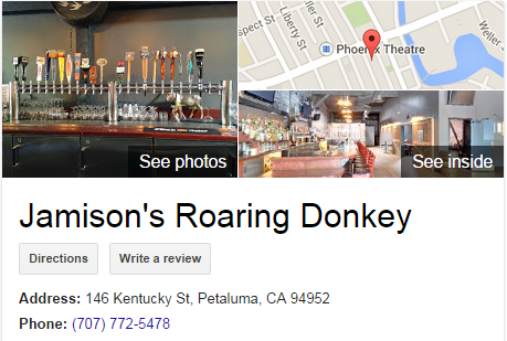 Google Business View for a Bar.  Look Inside!