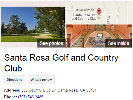 Google Business View for a Golf Club.  Look Inside!