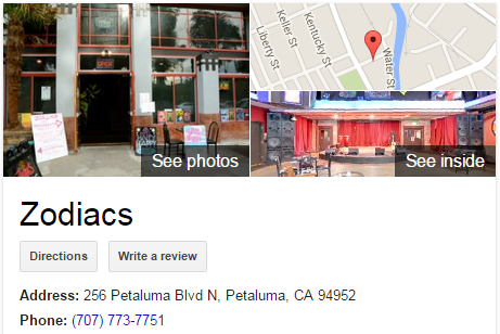 Google Business View for a Live Music Venue. Look Inside!