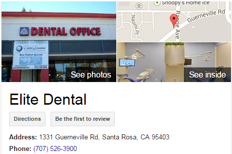 Google Business View for a Dentist.  Look Inside!