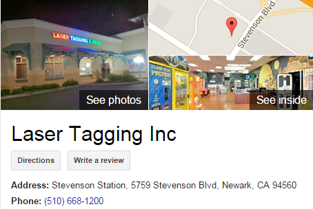 Google Business View for a Laser Tag Center.  Look Inside!