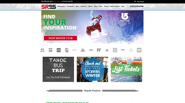 Santa Rosa Ski and Sport Website