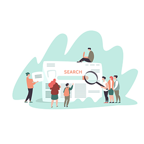 Search Engine Results Page Concept