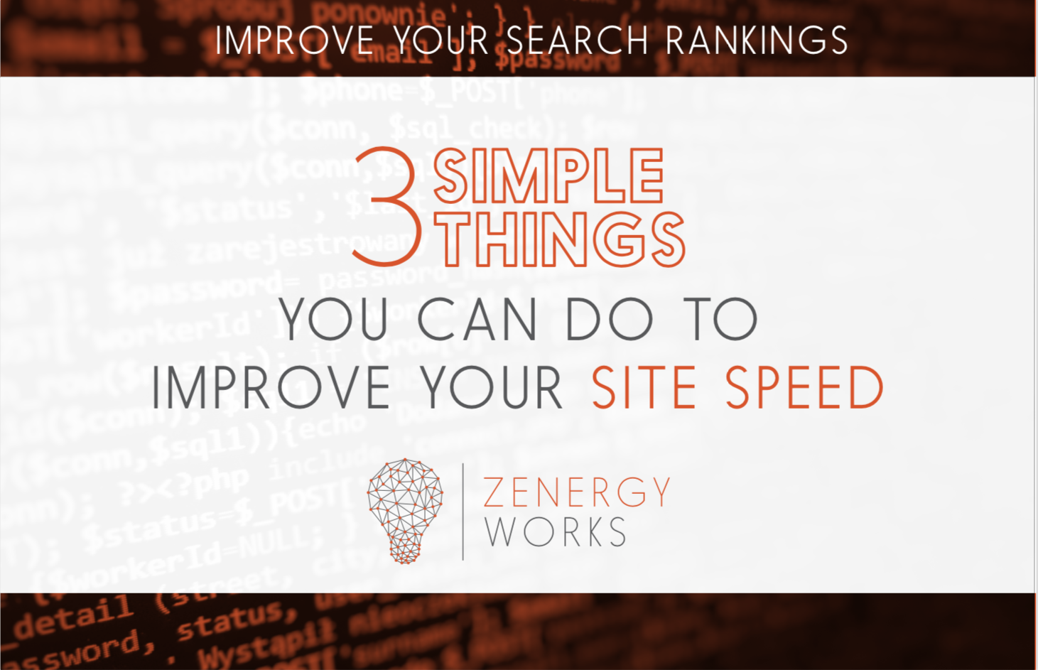 3 Simple Things You Can Do to Improve Your Site Speed
